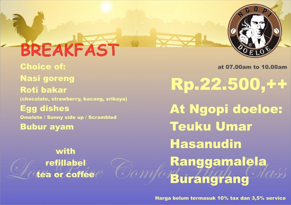 ngopi doeloe breakfast
